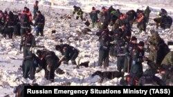 Работа сотрудников МЧС России на месте крушения пассажирского самолета Ан-148 «Саратовских авиалиний». 11 февраля 2018 года