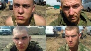 Четверо із 10 затриманих на Донеччині російських десантників. Їх затримали 25 серпня біля Дзеркального