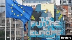 """""""E ardhmja është Evropa"""", shkruan në selinë e Komisionit Evropian."""