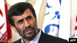 """No one can impose any sanctions on Iran any longer,"" President Mahmud Ahmadinejad said."