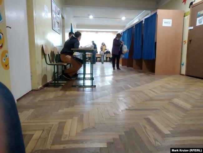 Избирательный участок в киевском районе Борщаговка