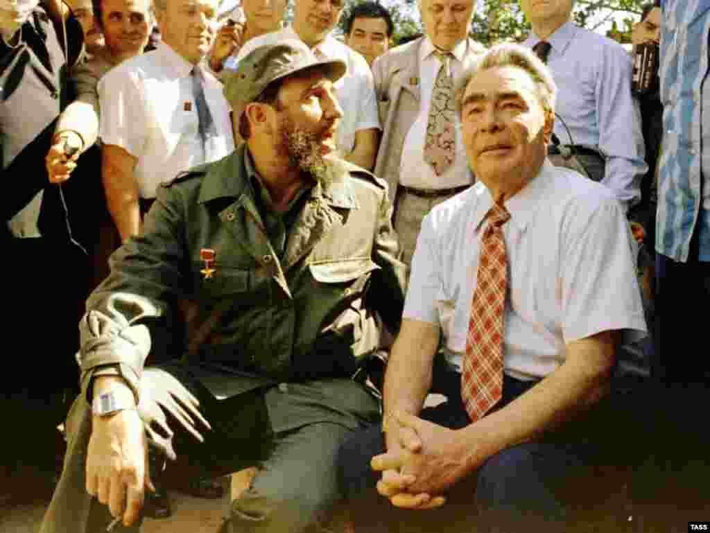 С Леонидом Брежневым, 1976 год.