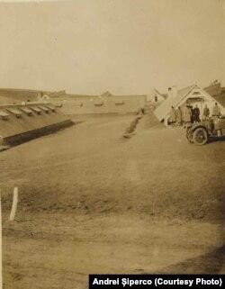 Lagărul Măstăcani, martie 1918; vedere în interior