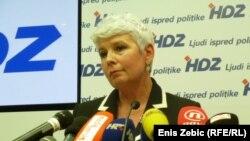 Jadranka Kosor u vrijeme dok je bila predsjednica HDZ-a i premijerka Hrvatske