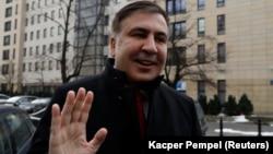 Міхеїл Саакашвілі у Варшаві, куди його вислали з України 12 лютого 2018 року