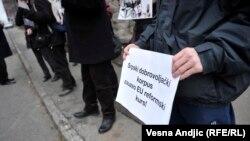 Protest protiv rehabilitacije Milana Nedića, Beograd, 7. decembar 2015.