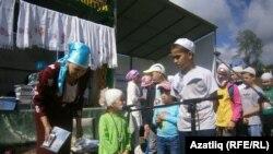 Балтачта мөселман балаларның бөтенрусия Сабантуе