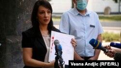 Serbia -- Serbian politician Marinika Tepic, in Belgrade, July 23, 2020.