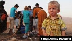 Сириялық бала Ирактағы босқындар лагерінде. 28 тамыз 2013 жыл.