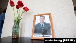 Партрэт Яўгена Патаповіча ў школе, дзе ён вучыўся