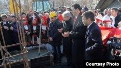 """Inaugurimi për ndërtimin e sheshit """"Skënderbeu"""", Shkup"""