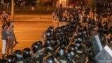 Belarus —Protests in Minsk, Pieramožcaŭ avenue, 9aug2020