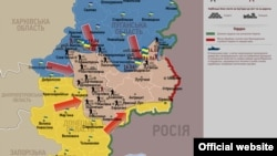 Ucraina - harta zonei unde se desfășoară operațiunea antiteoristă.