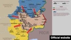 Украинадағы антитеррорлық операция картасы.