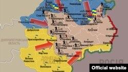 Карта контртеррористических действий в Украине.