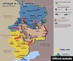 Сытуацыя на ўсходзе Ўкраіны ў чэрвені 2014-га