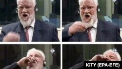 Slobodan Praljak a băut o substanță necunoscută în fața Trubinalului de la Haga, după care a decedat, 29 noiembrie 2017.