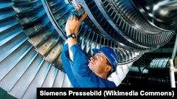 Газовые турбины Siemens. Иллюстрационное фото