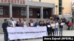 Skup u znak sećanja na žrtve genocida u Srebrenici održan u Prištini