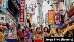 Япониянинг Осака шаҳрида саммитга келганларни кутиб олиш маросими.