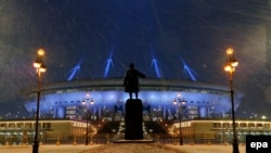The Krestovsky Stadium is home to Russian Premier League champions Zenit St. Petersburg (file photo)