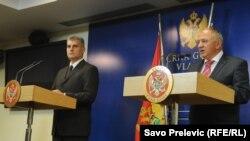Ministri Vujica Lazović i Ivan Brajović, Podgorica, 28. septembar 2012.