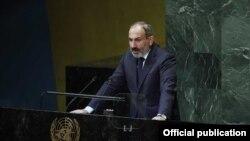 Премьер-министра Армении Никол Пашинян выступает в ООН (архив)