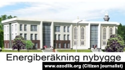 Uzbekistan - project of new built islamic center in Stockholm