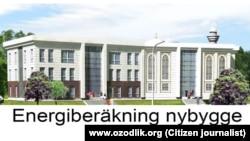 Uzbekistan - project of new built islamic center in Stockholm