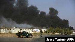 Dim iznad policijske postaje u Kandaharu, Afganistan, ilustrativna fotografija