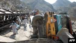 The Taliban has attacked overland supply routes through Pakistan.
