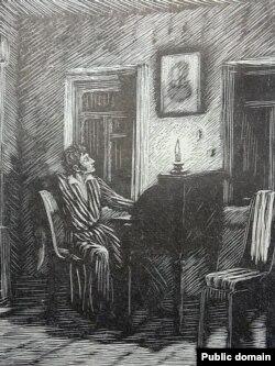 Адам Міцкевіч (гравюра з выданьня 1948 г.)