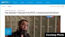 Скриншот сайта телеканала Вести.RU
