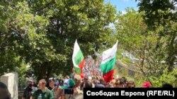Протесты на пляже в Бургасе. 11 июля 2020 года