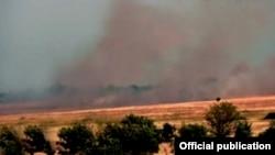 Нагорный Карабах. Пожар в на территории Агдамского района, 19 мая 2016 года.