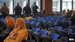 """Објавувањето на пресудата за """"Диво Насеље"""" во судот во Скопје"""