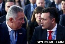 Milo Đukanović i jedan od gostiju na kongresu, Zoran Zaev