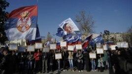 Protest Srpske radikalne stranke u Beogradu, 17. novembar 2012.
