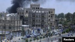Pamje nga sulmi në Ambasadën e SHBA-ve në Sana të Jemenit