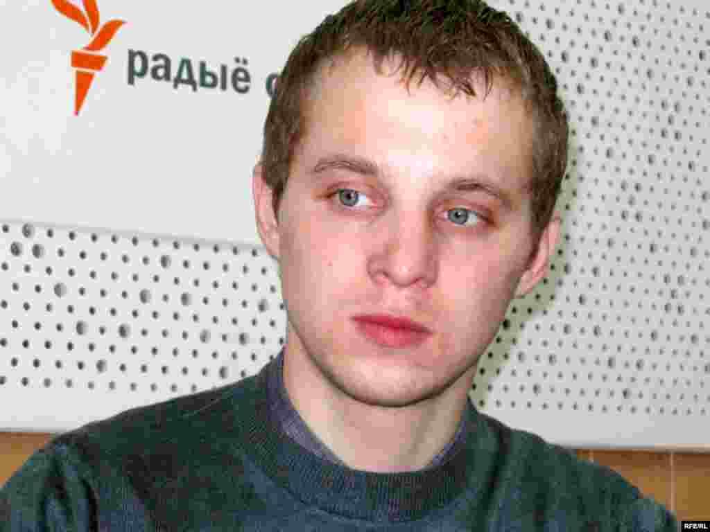 Зьміцер Дашкевіч у менскай студыі Радыё Свабода