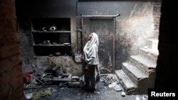 Оштетени домови на христијани во Пакистан.