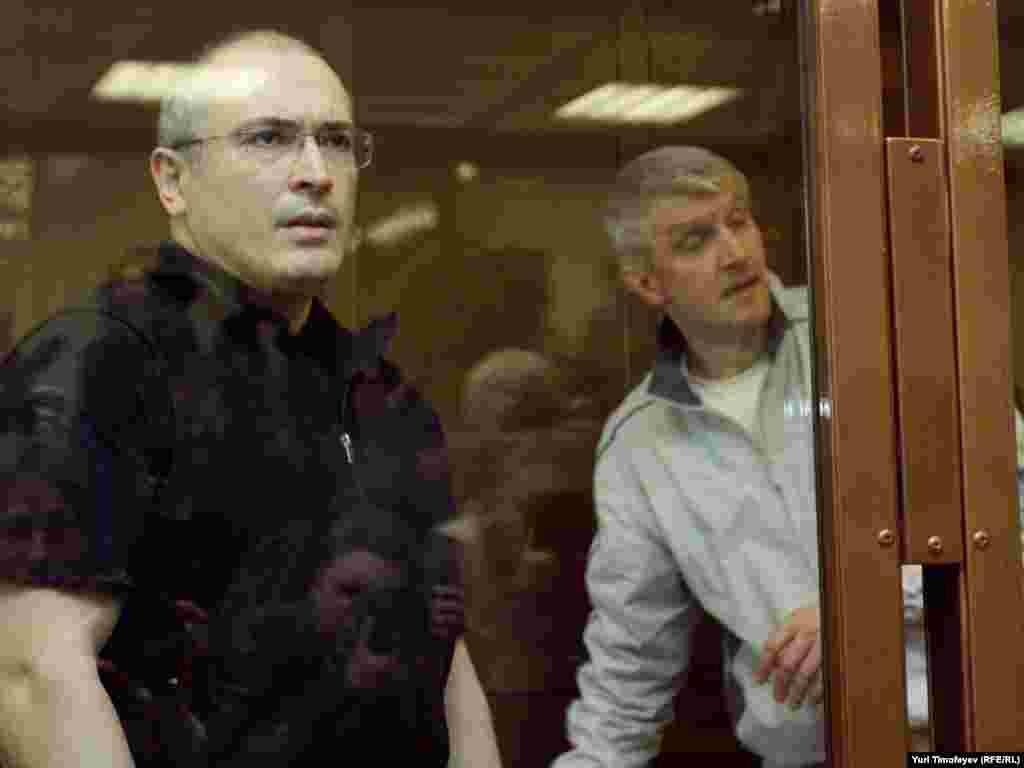 Михаил Ходорковский и Платон Лебедев в Мосгорсуде, 17 мая 2011