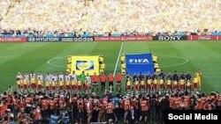 Дөнья футбол беренчелеге финалыннан Рөстәм Миңнеханов фотосы