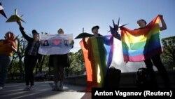 Rusiyada LGBT fəallarının yürüşü zamanı saxlananlar, 17 may, 2019-cu il