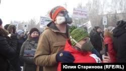 """Участники митинга """"За чистое небо"""" в Красноярске"""