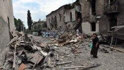 Gjeorgji - Qyteti Gori pas bombardimeve nga forcat ruse