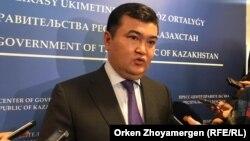 Заместитель премьер-министра Казахстана Женис Касымбек. Нур-Султан. 5 сентября 2019 года.