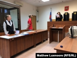Bykanov appears in court on July 29 in the clothes he was detained in.
