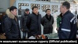 Өкмөт башчы Сапар Исаков Бишкек Жылуулук борборуна барды. 27-январь, 2018-жыл.