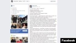 Pismo biskupa na Facebooku